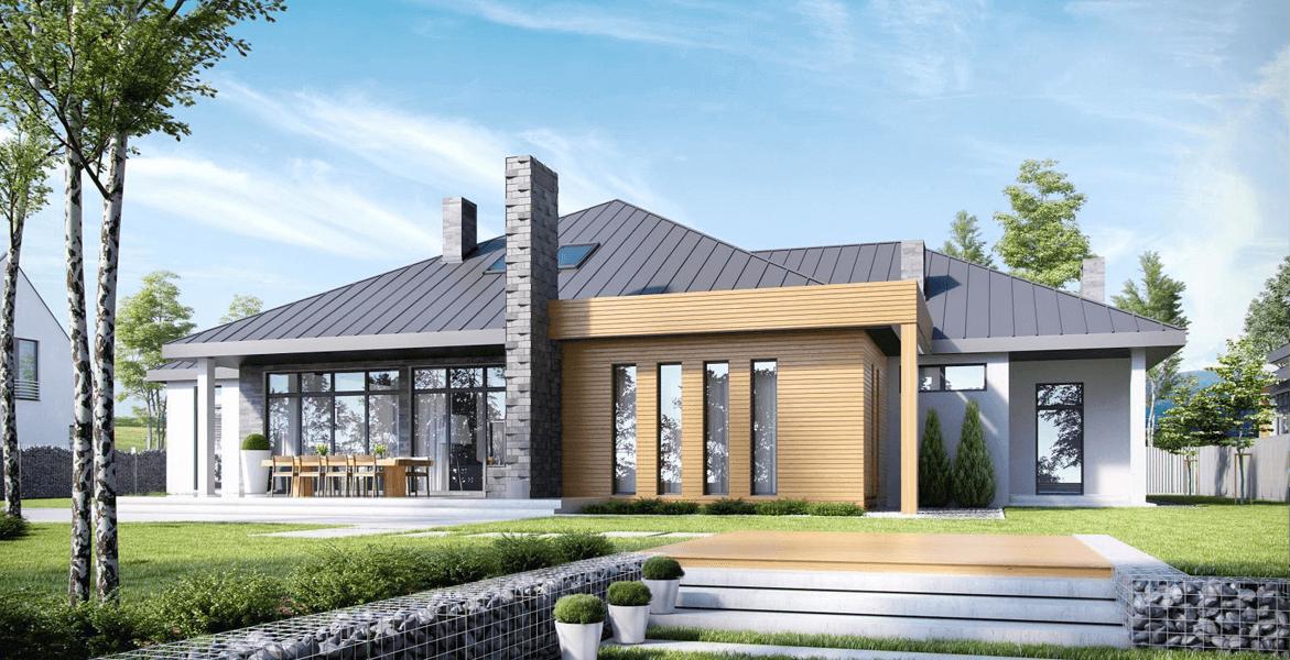интересные проекты одноэтажных домов